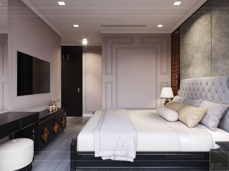 Thiết kế chung cư 70m2 đẹp Vinhomes Golden River - phòng ngủ
