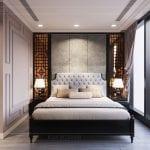 thiết kế căn hộ nội thất phương đông - phòng ngủ 2