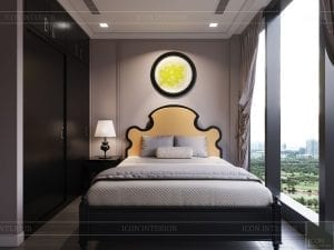thiết kế căn hộ nội thất phương đông - phòng ngủ 4