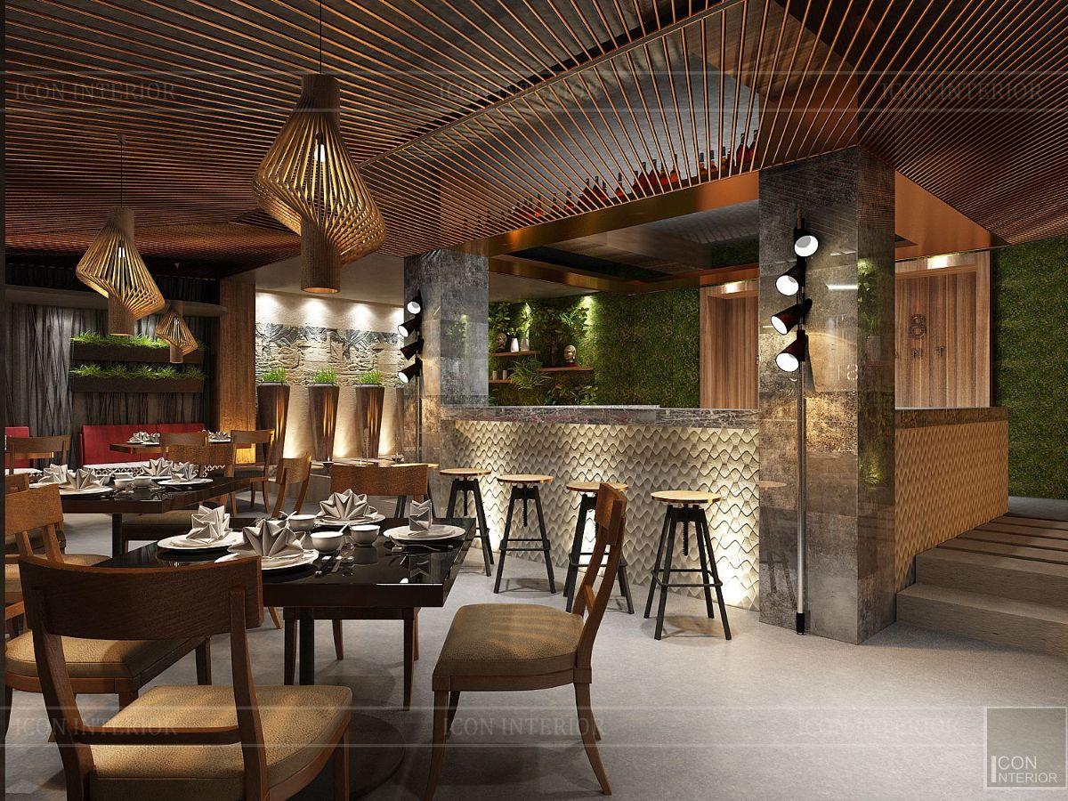 thiết kế nội thất nhà hàng đẹp 11