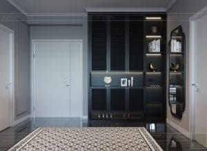 thiết kế căn hộ saigon pearl - phòng khách bếp 1
