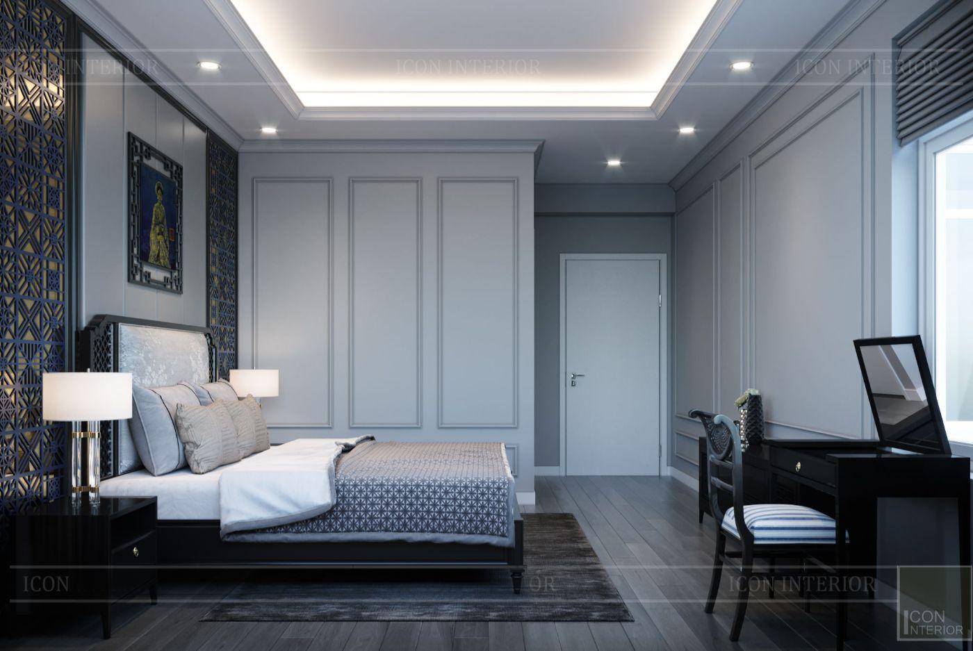 thiết kế căn hộ saigon pearl - phòng ngủ master 2