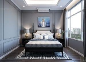 thiết kế căn hộ saigon pearl - phòng ngủ 1