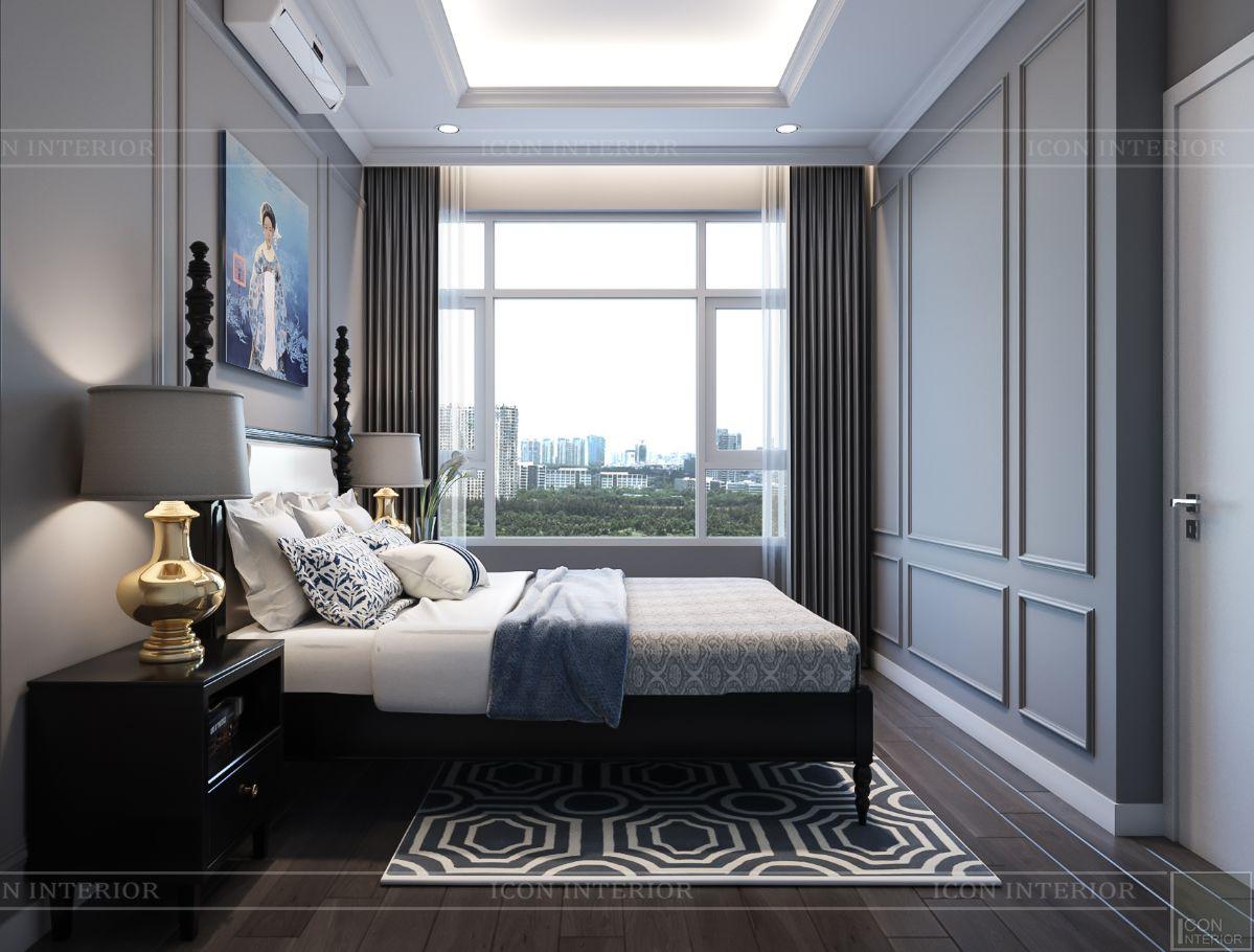 thiết kế phòng ngủ căn hộ saigon pearl