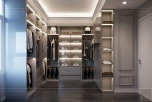 thiết kế căn hộ saigon pearl - phòng thay đồ 1