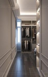 thiết kế căn hộ saigon pearl - phòng thay đồ 2