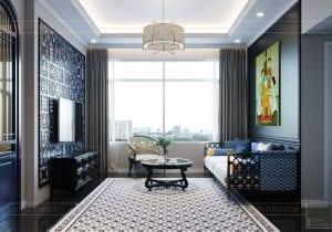 thiết kế nội thất chung cư 100m2 phong cách indochine