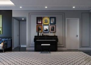 thiết kế căn hộ saigon pearl - phòng khách bếp 4