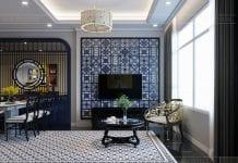 thiết kế căn hộ saigon pearl - phòng khách bếp 5