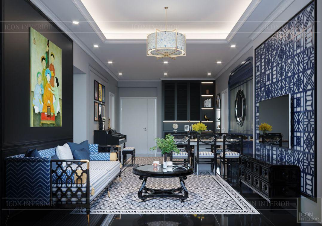 thiết kế căn hộ saigon pearl - phòng khách bếp 6
