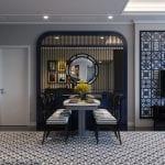thiết kế căn hộ saigon pearl - phòng khách bếp 7