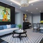 thiết kế căn hộ saigon pearl - phòng khách bếp 8