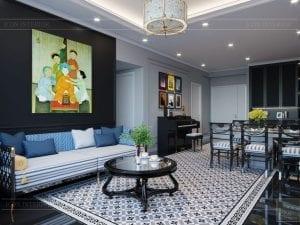 thiết kế nhà chung cư đẹp 100m2 saigon pearl