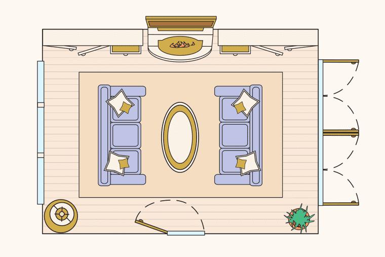bố trí phòng khách - bố trí tuyền thống