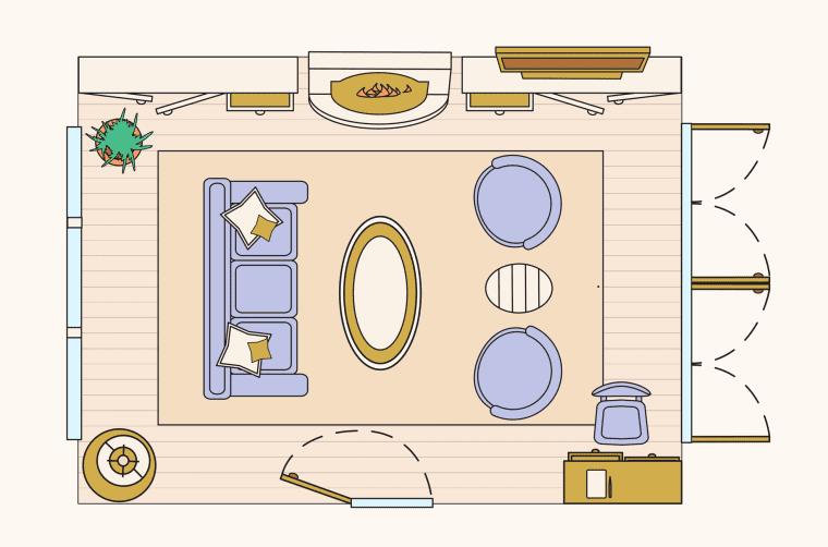 bố trí phòng khách - bố trí đón khách