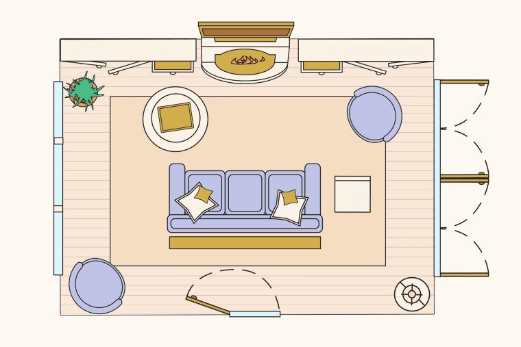 bố trí phòng khách - một chút riêng tư