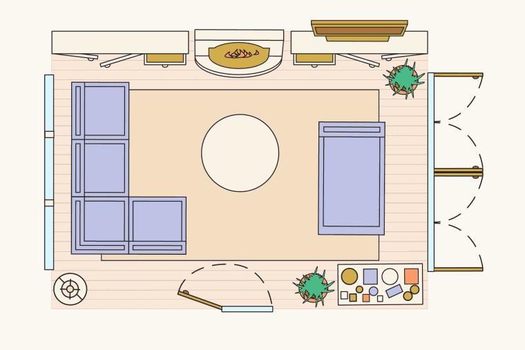 bố trí phòng khách - căn phòng tự hòa