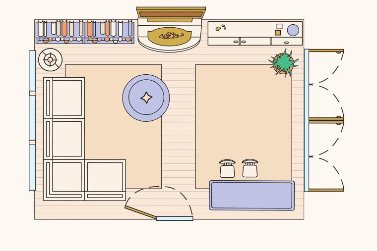 bố trí phòng khách - cuộc sống gia đình