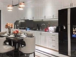thi công nội thất tân cổ điển - phòng khách bếp 2