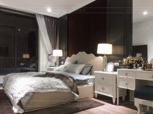 thi công nội thất tân cổ điển - phòng ngủ matser 2
