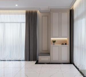 thiết kế biệt thự Park Riverside Premium - phòng khách bếp 1