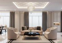 thiết kế biệt thự Park Riverside Premium - phòng khách bếp 4