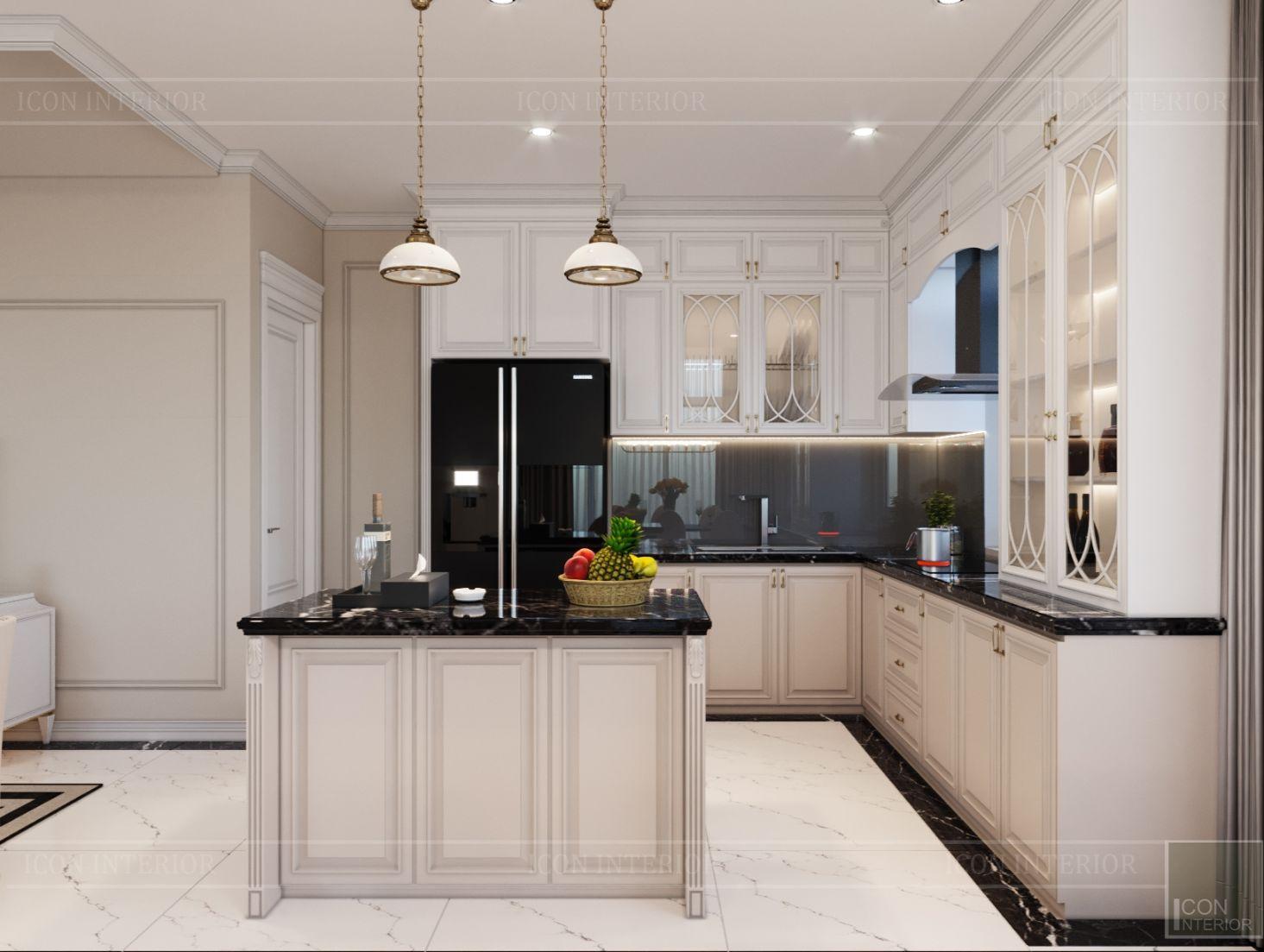 thiết kế biệt thự Park Riverside Premium - phòng khách bếp 10