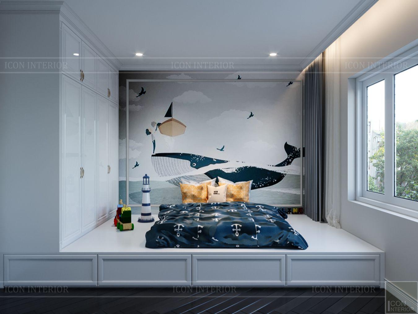 thiết kế biệt thự Park Riverside Premium - phòng ngủ bé 2