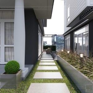 thiết kế biệt thự Park Riverside Premium - sân vườn 4