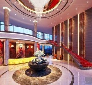 thiết kế khách sạn wyndham cam ranh - sảnh chính 3