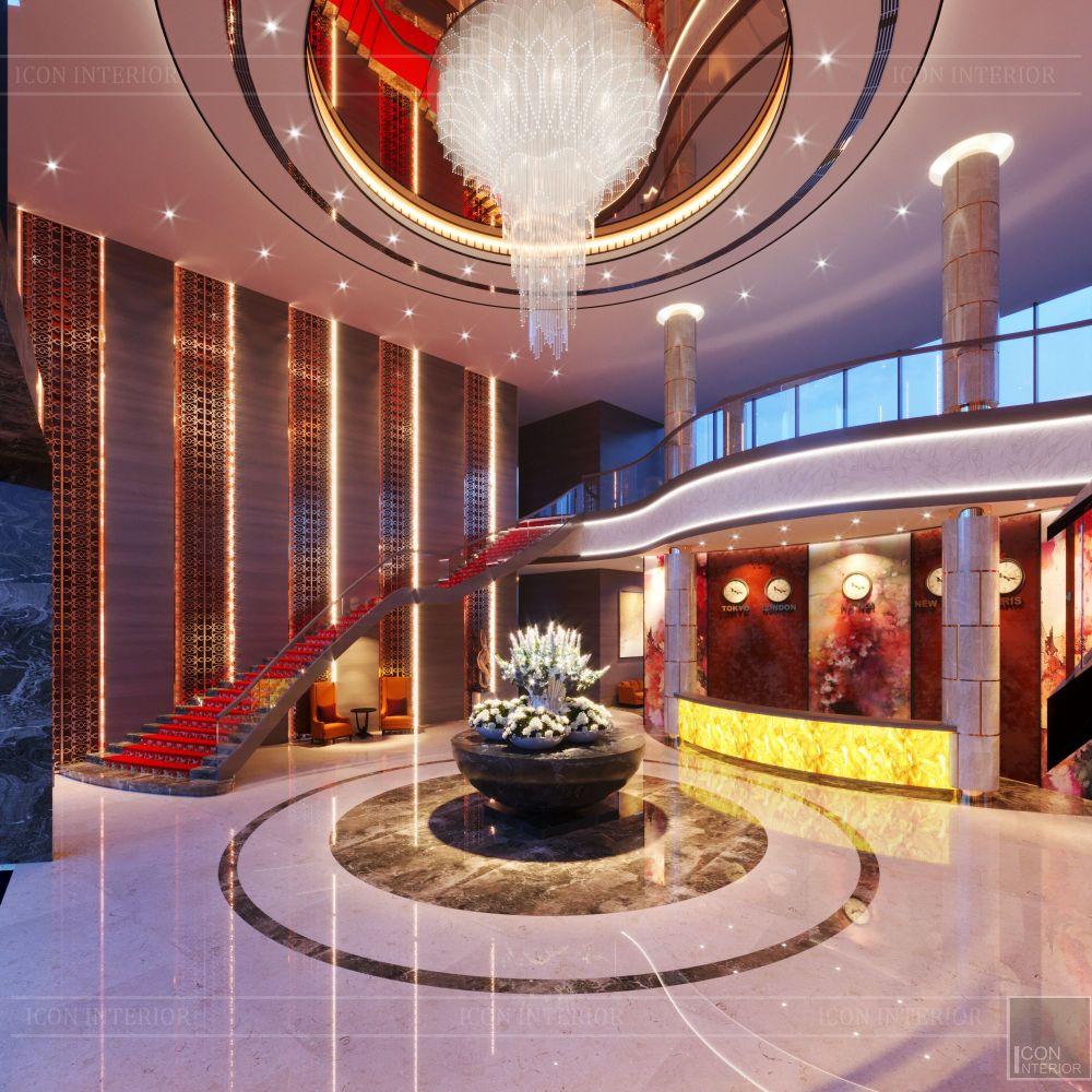 thiết kế khách sạn wyndham cam ranh - sảnh chính 1