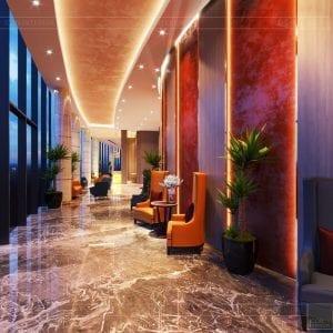 thiết kế khách sạn wyndham cam ranh - sảnh chính 10