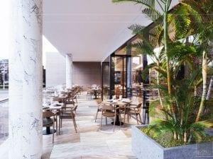 thiết kế khách sạn wyndham cam ranh - phong ăn ngoài trời 3