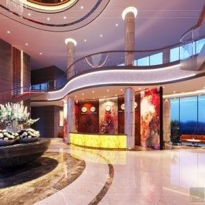 thiết kế khách sạn wyndham cam ranh - sảnh chính 4