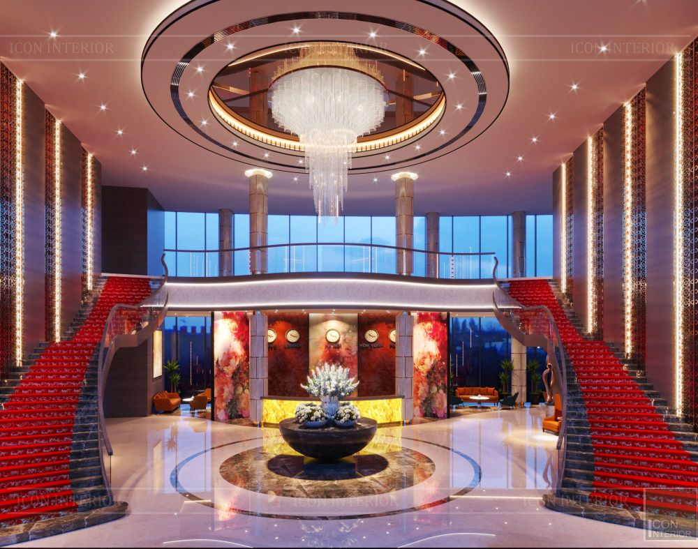 thiết kế khách sạn wyndham cam ranh - sảnh chính 2