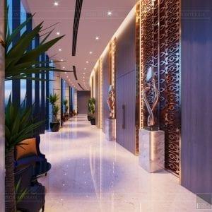thiết kế khách sạn wyndham cam ranh - sảnh chính 11
