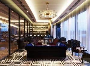 thiết kế khách sạn wyndham cam ranh - phòng giải trí 2