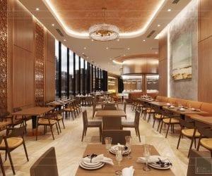 thiết kế khách sạn wyndham cam ranh - nhà hàng tầng 11