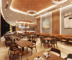 thiết kế khách sạn wyndham cam ranh - nhà hàng tầng 12