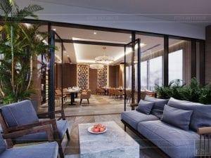 thiết kế khách sạn wyndham cam ranh - phong ăn ngoài trời 1