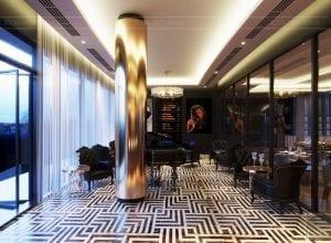 thiết kế khách sạn wyndham cam ranh - phòng giải trí 6