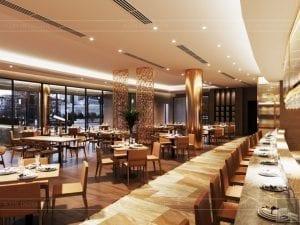 thiết kế khách sạn wyndham cam ranh - nhà hàng tầng 2 7