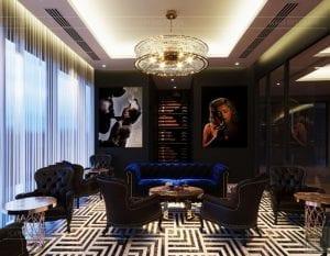 thiết kế khách sạn wyndham cam ranh - phòng giải trí 3