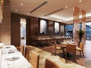 thiết kế khách sạn wyndham cam ranh - nhà hàng tầng 2 9