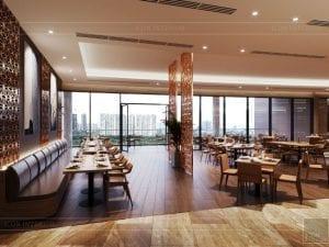 thiết kế khách sạn wyndham cam ranh - nhà hàng tầng 2 8