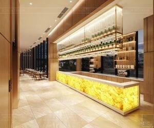 thiết kế khách sạn wyndham cam ranh - nhà hàng tầng 1