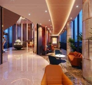 thiết kế khách sạn wyndham cam ranh - sảnh chính 9
