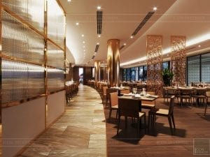 thiết kế khách sạn wyndham cam ranh - nhà hàng tầng 2 1