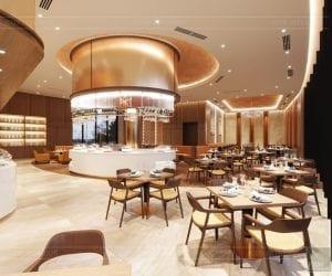 thiết kế khách sạn wyndham cam ranh - nhà hàng tầng 5