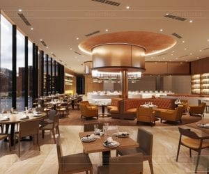 thiết kế khách sạn wyndham cam ranh - nhà hàng tầng 6